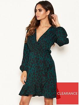ax-paris-petite-ax-paris-petite-green-leopard-print-wrap-dress