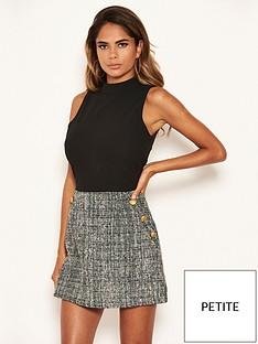 ax-paris-petite-2-in-1-tweed-dress
