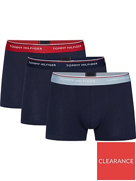 tommy-hilfiger-three-pack-mens-trunks-sky-captain-blue