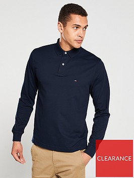 tommy-hilfiger-long-sleeve-polo-shirt-navy