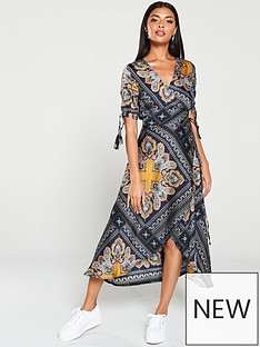 ax-paris-paisley-tie-waist-wrap-dress-multi