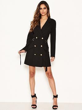 ax-paris-black-blazer-dress