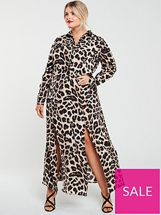 ax-paris-curve-printed-maxi-shirt-dress--nbspleopardnbsp