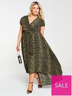 ax-paris-curve-dip-hem-leopard-dress--nbspgreen