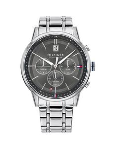 tommy-hilfiger-tommy-hilfiger-kyle-grey-sunray-chronograph-dial-stainless-steel-bracelet-mens-watch