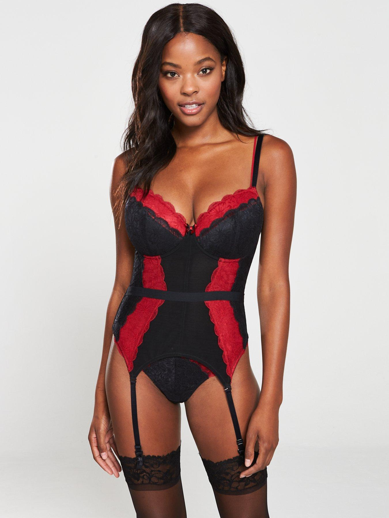 Womens Amour Strapless Lightly Padded Underwired Body Bodysuit Pour Moi