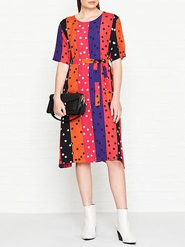 ps-paul-smith-spot-and-stripe-print-dress-multicolour