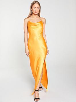 river-island-river-island-cowl-neck-maxi-slip-dress--orange