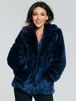 michelle-keegan-premium-faux-fur-coat-navy