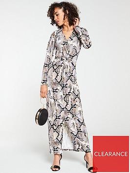 v-by-very-collar-animal-printed-maxi-dress-snake-print