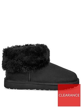 ugg-classic-mini-fluff-ankle-boots-black