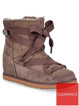 ugg-classic-premium-femme-lace-up-hidden-wedge-ankle-boots-slate