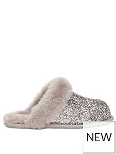 ugg-scuffette-ii-cosmos-slippers-sliver