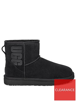 ugg-classic-mini-rubber-logo-ankle-boots-black