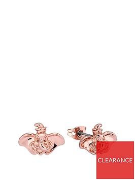 disney-disney-dumbo-14k-rose-gold-plated-elephant-stud-earrings