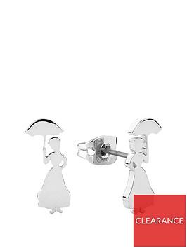 disney-disney-mary-poppins-14k-white-gold-plated-silhouette-stud-earrings