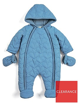 mamas-papas-baby-boys-quilted-pram-suit-blue