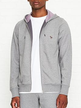 ps-paul-smith-zip-through-zebra-logonbsphoodienbsp--grey