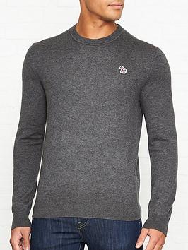 ps-paul-smith-zebra-logo-knitted-jumper-grey