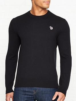 ps-paul-smith-zebra-logo-knitted-jumper-black