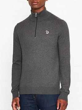 ps-paul-smith-zebra-logo-34-zip-knitted-jumper-grey