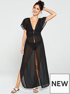 wolf-whistle-zahida-open-front-maxi-beach-dress-black