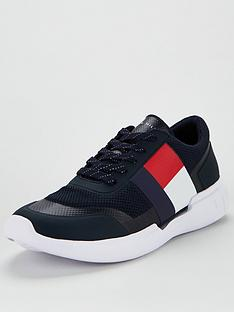 tommy-hilfiger-corporate-knit-modern-runner-trainers-navy