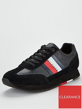 tommy-hilfiger-corporate-leather-flag-runner-trainers-black