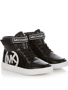 michael-kors-girls-diamante-logo-high-top-trainers-black