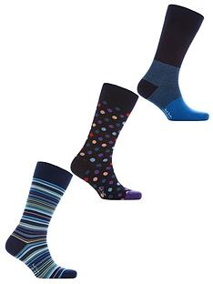 ps-paul-smith-mens-3-pack-stripe-dot-and-plain-socks-multi