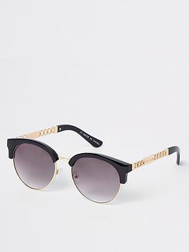 river-island-river-island-chain-trim-sunglasses-black