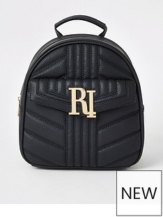 6a4330944 River Island River Island Quilted Mini Backpack - Black