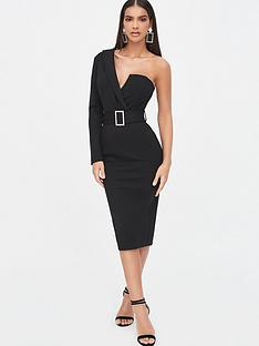 lavish-alice-one-sleeve-tux-midi-dress-black