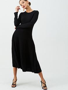 v-by-very-full-skirt-ribbed-midi-dress-black