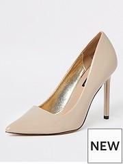 4771f08809959 River Island River Island Skinny Heel Court Shoe -nude
