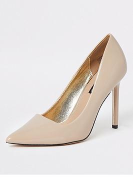 river-island-river-island-skinny-heel-court-shoe--nude