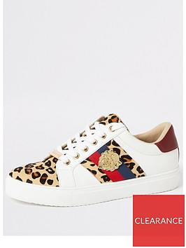 river-island-river-island-animal-printed-lace-up-trainers-white