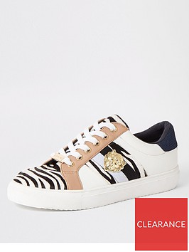 river-island-river-island-printed-lace-up-trainers-white
