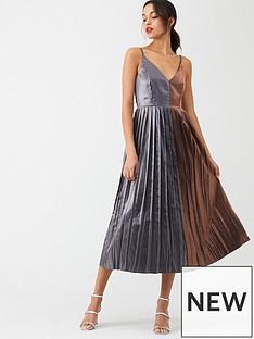 little-mistress-gunmetal-pleated-midi-dress-copper