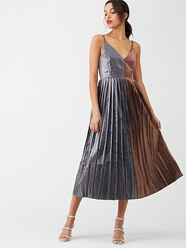little-mistress-gunmetal-pleated-midi-dress-copper