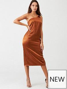 little-mistress-satin-one-shoulder-midi-dress-rust