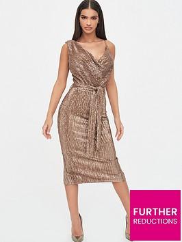lavish-alice-pleated-sequin-cowl-neck-midi-dress-gold