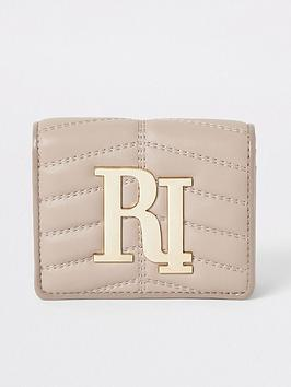 river-island-river-island-quilted-branded-purse-beige