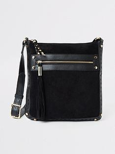 river-island-river-island-leather-mix-cross-body-bag-black
