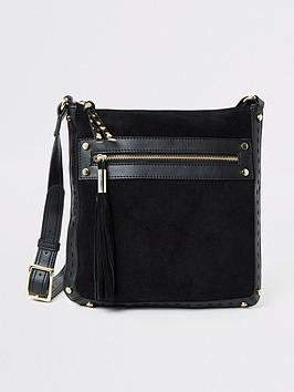 river-island-river-island-leather-mix-cross-body-bag-black