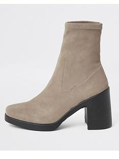 river-island-sock-boot-dark-grey