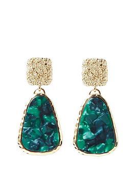 river-island-resin-drop-earrings-green