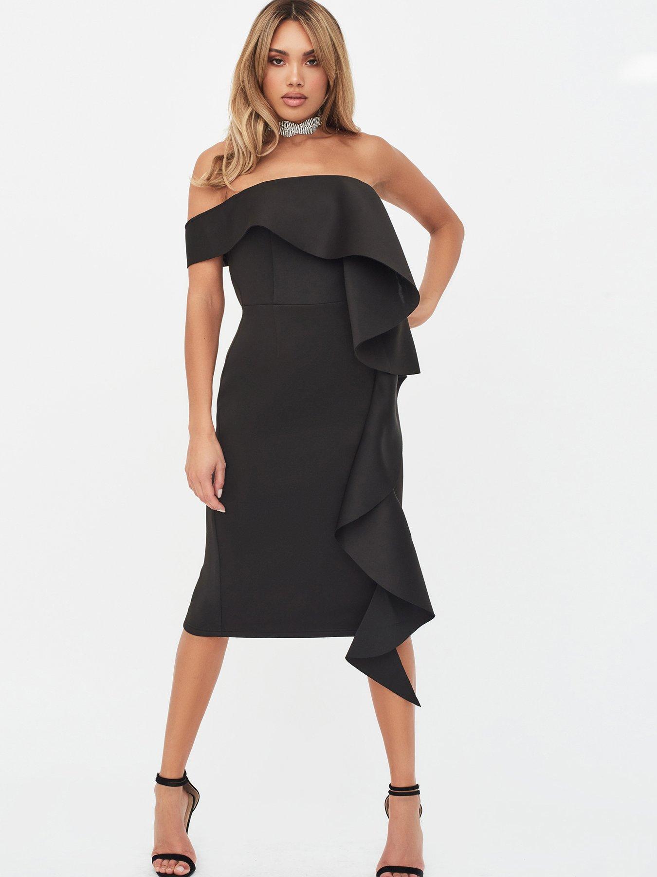 Fishtail Crochet Party Dress Beauty Tube Top Back Zip Long Rock,Black,S
