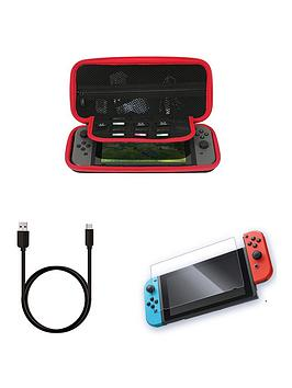 nintendo-nintendo-switch-hard-shell-storage-console-carry-case-with-tempered-glass-anti-scratch-screen-protectors-and-usb-c-fast-charge-cable