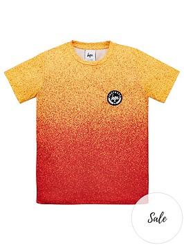hype-boys-speckle-short-sleeve-t-shirt-orange